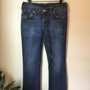 True Religion Billy straight leg boot cut jeans